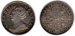 1708 Great Britain, Queen Anne, Shilling