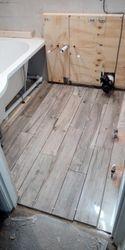 floor tiling.
