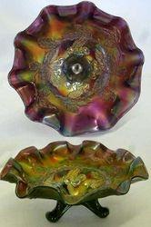 Dugan Cherries ftd ruffled bowl - purple