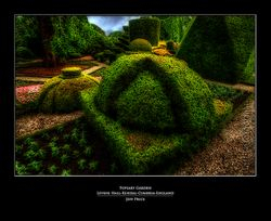 Topiary Garden Levens Hall-Kendal-Cumbria-England (glow)