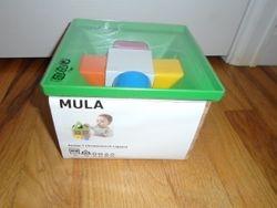 IKEA Mula Shape Sorter Multicolor Block House Toy- BNIB - $15