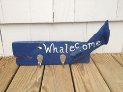 Whalecome navy whale