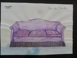 divano fin du seicle - disegno a mano libera