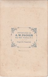 A. W. Packer, photographer of Trenton, New Jersey - back