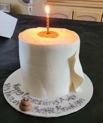 Coronavirus Toilet paper Roll Cake