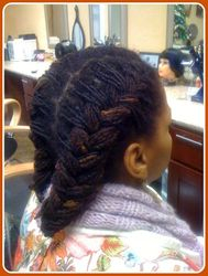 Fishtail Braid on Locs