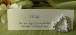 Ivory Diamante Placecard