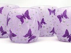 Mauve and Purple Butterflies