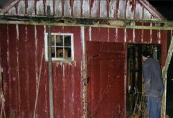 Wayne investigates an old out building