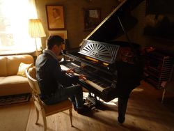 An improvising concert at the Sibelius's house in Ainola