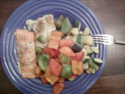 Fish and veggies