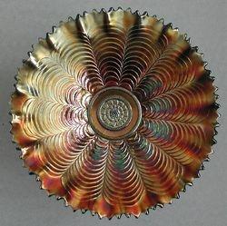 Nippon pie crust edge bowl, amethyst