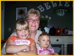 Jacki Satterlee with Grandkids