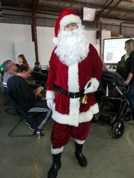 Father Christmas came on a Harley Davidson with icy poles for the children