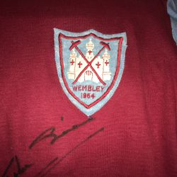 John Sissons match worn and signed 1964 FA Cup Final shirt.
