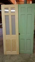 Custom Pine Door With Glass  To Match Original