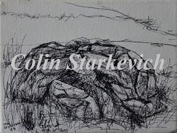 Erratic Drawing (mixed media on canvas)