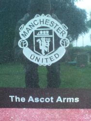 Manchester United Badge for the Ascot Arms
