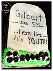 Here Lies His Youth Cake ( Tombstone)