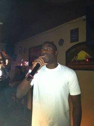 Andrew expressing his style at 502 Bar Lounge's Social Saturday Night Karaoke!