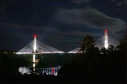 LED Lights on Maine DOT Bridge