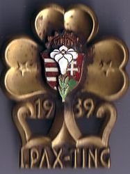 Metal 1939 Pax Ting World Camp Badge