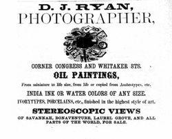 D. J. Ryan, photographer, Savannah, Georgia
