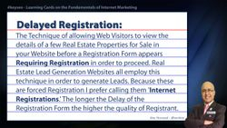 Delayed Registration - Real Estate SEO Short Definition
