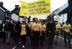 Welsh Marchers start their walk to London.