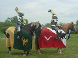 We thought WE were warm on this 30+ degree day! No more complaining after we saw the suits of armour . . .