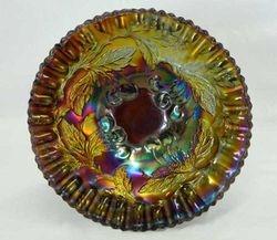 "Dugan Cherries crimped edge 6"" plate - purple"