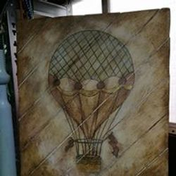 Air balloon on pallets