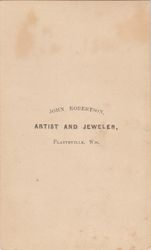 John Robertson,  photographer of Platteville, WI No. 2 - back