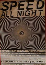 'Speed All Night' Gig 1982 at Canterbury University Ballroom
