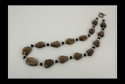 Smoky Quartz, Saltwater Pearls & Black Agate