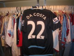 Manuel Da Costa 2009/10 away shirt..its not the shirt thats unique, its the game it was worn in