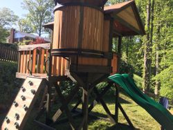 Backyard Discovery Eagles Nest Elite Swing Set installation in leesburg Virginia