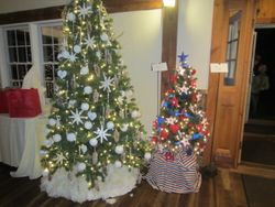 MWC donated these two trees and began making all hand made decorations in October