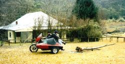 2002 Jimmy Featon riding and Kel Regan - dragging the wood
