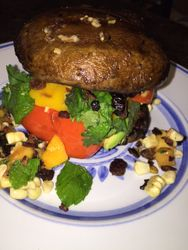 "Portabello ""Burger"" Stuffed with Veggies"