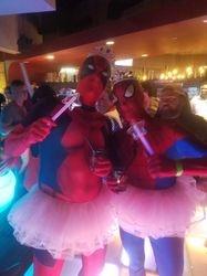 Ballerina Deadpool and Ballerina Spider-Man