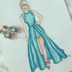 Taylor Swift Copic Illustration