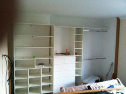 White wardrobe interior