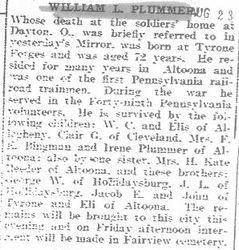 Plummer, William - Part 1 - 1931