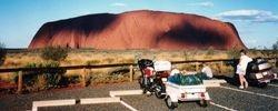 Tom's XJ900 at Ayres Rock after the 1994 AGM at Alice Springs - April 1994