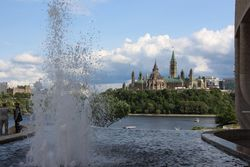 View of parliament buildings from Museum of History