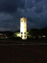 Western Carolina University's lovely clock tower