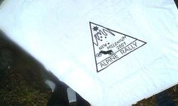 2001 Screen Printing at the Alpine Rally celebrating the new Millenium