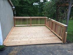 Deck after cedar re-decking