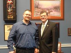Congressman Cole and Josh Lepird